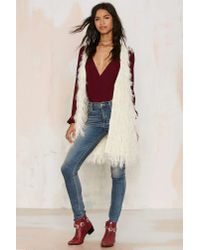 Nasty Gal - Natural Faux Mo Shaggy Vest - Lyst