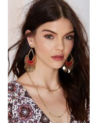 Nasty Gal | Multicolor Shali Coin Earrings | Lyst