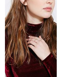 Urban Outfitters - Metallic Delicate Rope Ring - Lyst