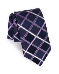 Michael Kors - Blue Check Silk Tie for Men - Lyst