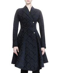 Givenchy - Blue Damask Jacquard Peplum Coat - Lyst