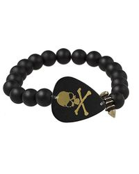 Electric Picks | Black Jagger Skull Bracelet | Lyst