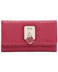 Guess | Red Rosalind Slim Clutch | Lyst