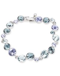 Givenchy - Silver-tone Blue Crystal Bracelet - Lyst