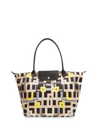 Longchamp | Natural 'large Le Pliage - Artwalk' Tote | Lyst