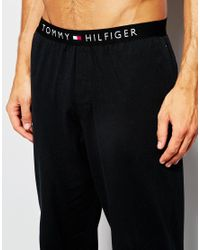 Tommy Hilfiger - Black Icon Cotton Lounge Pants In Regular Fit for Men - Lyst