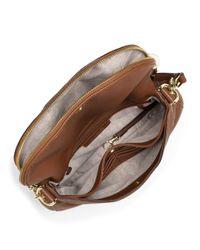 MICHAEL Michael Kors | Brown Medium Bedford Tassel Convertible Shoulder Bag | Lyst
