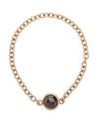 Finn | Metallic Black Diamond & Rose Gold Chain Ring | Lyst