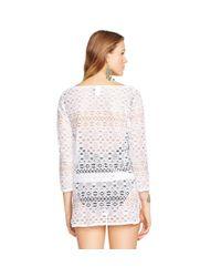 Polo Ralph Lauren - White Crocheted Tunic - Lyst