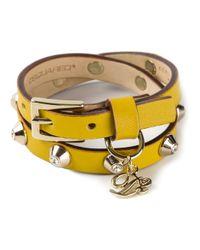 DSquared² - Orange Studded Wraparound Bracelet - Lyst