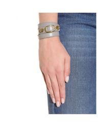 Balenciaga - Gray Giant Leather Bracelet - Lyst