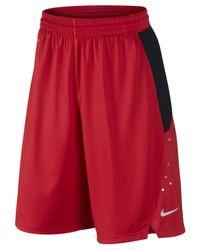 """Nike - Red Men's 12"""" Hyper Elite Power Dri-fit Shorts for Men - Lyst"""