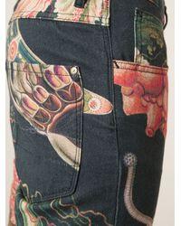 Vivienne Westwood Anglomania - Black Sea Creature Print Jeans for Men - Lyst