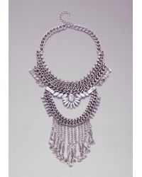 Bebe - Metallic Chainlink  Coin Necklace - Lyst
