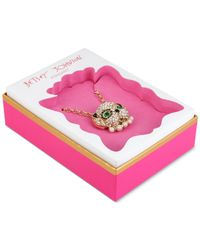 Betsey Johnson | Metallic Gold-tone Embellished Dog Pendant Necklace | Lyst