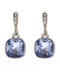 Givenchy | Silver-Tone & Blue Drop Earrings | Lyst