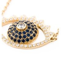 KENZO - Metallic Big 'Eye' Necklace - Lyst