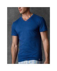 Ralph Lauren - Blue Slim-Fit V-Neck Three-Pack for Men - Lyst