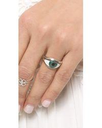 Nora Kogan - Green Eye Ring - Lyst