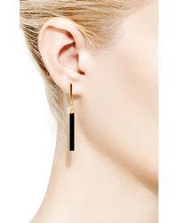 Mateo - Black 14k Yellow Gold Onyx Bar Earrings - Lyst