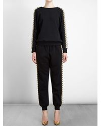 Ashish - Black Jewelled Sweatshirt - Lyst