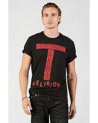 True Religion | Black Brushtastic Mens T-shirt for Men | Lyst