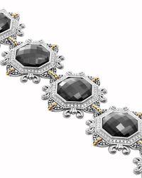 Lagos - Metallic Empress Hematite Doublet Bracelet - Lyst