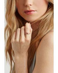 Forever 21 | Pink Wanderlust + Co Crystal-infinity Ring | Lyst