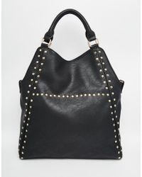 39822bdd86 Lyst - Yoki Fashion Studded Shoulder Bag in Black