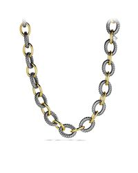 David Yurman | Metallic Oval Extra-large Link Necklace With Gold | Lyst