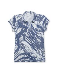 Calvin Klein | Blue White Label Abstract Scale Print Polo Shirt | Lyst