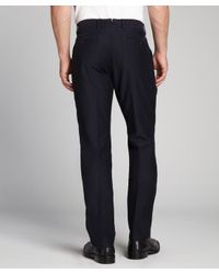 Zegna Sport - Blue Navy Cotton Corduroy Flat Front Pants for Men - Lyst