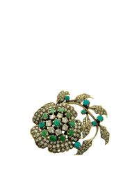 L'Inde Le Palais - Blue Small Silver Brooch - Lyst