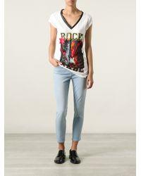 Philipp Plein - White 'Rock Babe' Print T-Shirt - Lyst