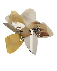 Marni - Natural Layered Flower Brooch - Lyst