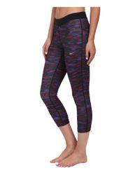 Nike | Purple Dri-fit™ Printed Relay Crop | Lyst