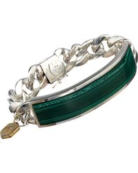 Ann Dexter-Jones | Green Malachite & Sterling Silver Id Bracelet | Lyst