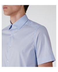 Reiss | Blue Redmayne Cotton Short Sleeve Shirt for Men | Lyst