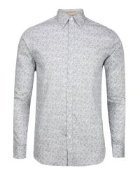 Ted Baker | White Florall Print Regular Fit Button Down Shirt for Men | Lyst