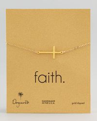 Dogeared - Metallic Gold-dipped Integrated Large Cross Bracelet - Lyst