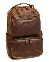 Frye | Brown 'logan' Large Volume Leather Backpack for Men | Lyst
