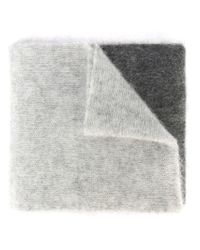 Marc Jacobs - Gray Colour Block Scarf - Lyst