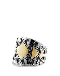 David Yurman   Metallic Signet Ring With Gold   Lyst