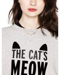 kate spade new york | Metallic Out Of The Bag Cats Meow Necklace | Lyst