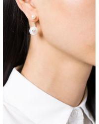 Delfina Delettrez | White Pearl 'piercing' Earring | Lyst