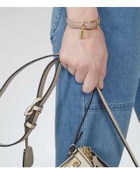 Reiss - Natural Hazel Padlock Detail Bracelet - Lyst