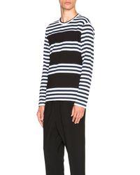 Comme des Garçons | Blue Cotton Jersey Stripe Tee | Lyst
