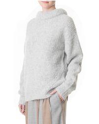 Tibi Gray Bubble Pullover