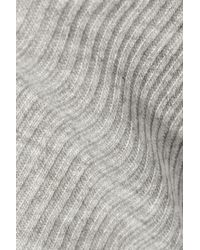 Enza Costa - Gray Ribbed Jersey Mini Dress - Lyst
