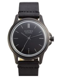 Electric | Black 'carroway' Leather Strap Watch for Men | Lyst